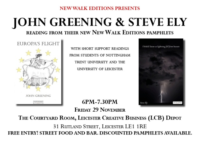Greening and Ely Leicester launch poster